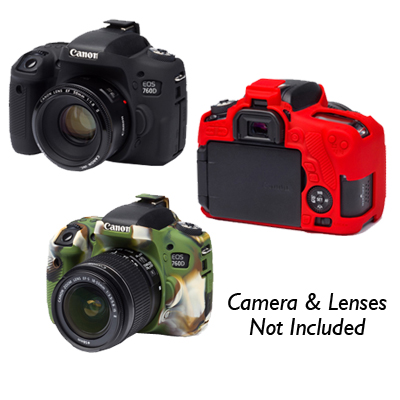 Easy Cover for Canon EOS 760D (Not Include Screen Protector) (Black/Red/Camouflage).
