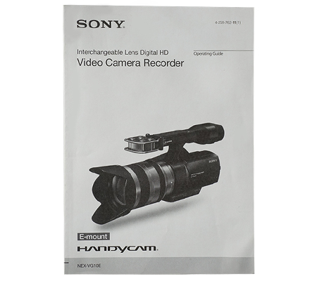 Sony Handycam Emount Manual Book