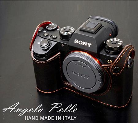 Angelo Pelle Half Case for Sony A9/ A7 III/ A7R III Dark Brown