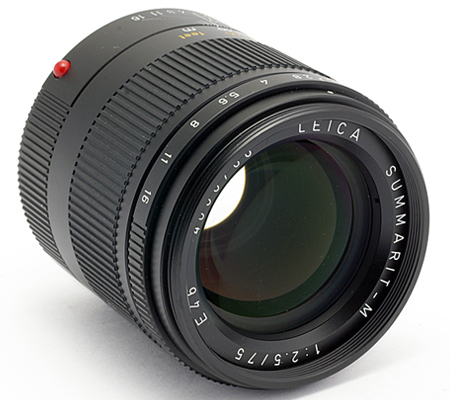 Leica 75mm f/2.5 Summarit-M Black (11645)