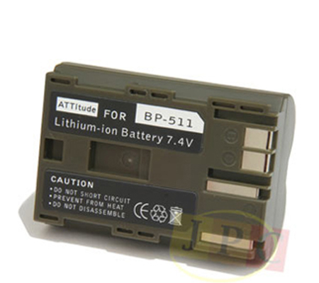 ATT Battery Canon BP-511 for Canon EOS 20D/30D/ 40D/50D/5D