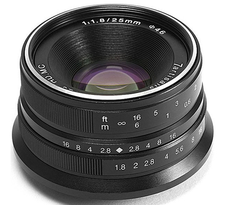 7Artisans 25mm f/1.8 for Fujifilm X Mount Black