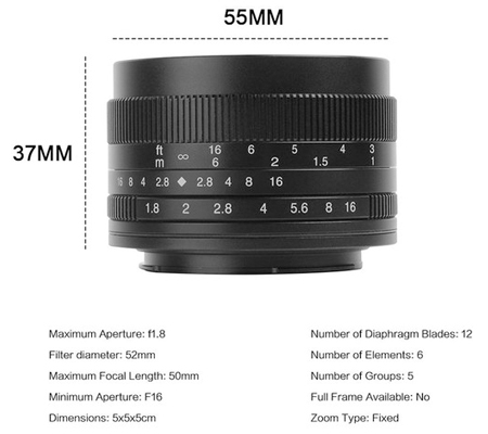 7Artisans 50mm f/1.8 for Fujifilm X Mount