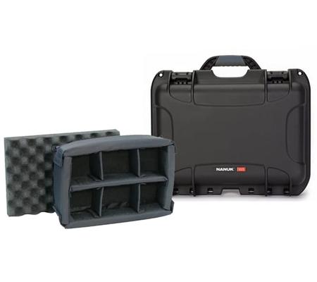 Nanuk 915 Waterproof Hard Case with Padded Dividers Black
