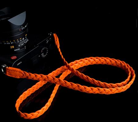 Angelo Pelle Braided Neck Strap Orange 105cm (Extra Soft)