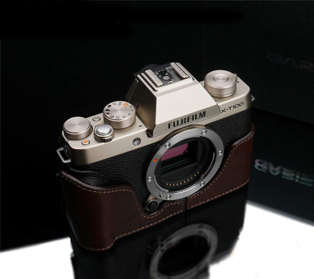 Gariz XS-CHXT100BR Half Case for Fuji X-T100 Brown