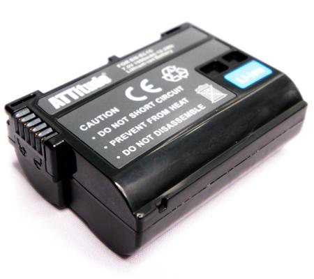 ATTitude Nikon EN-EL15 Battery For Nikon V1/D7000Series/D500/D600Series/D750/D800Series