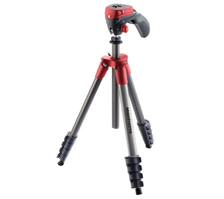 Manfrotto Compact Action Aluminum Tripod Red MKCOMPACTACN-RD