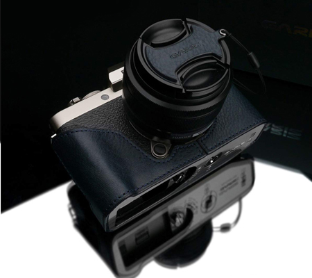 Gariz XS-CHXT100NV Half Case for Fuji X-T100 Navy