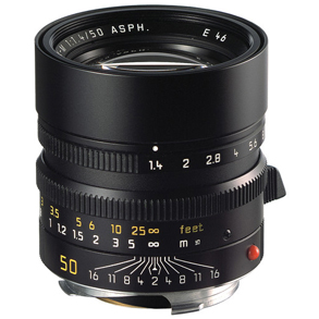 Leica 50mm f/1.4 Summilux-M ASPH Black (11891)