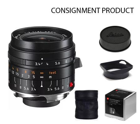 :::USED::: Leica 21mm f/3.4 Super Elmar-M ASPH Black (11145) Exmint#340 Consignment