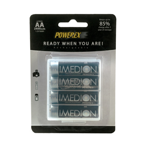 MAHA Powerex Rechargeable AA Imedion 2400 mAh