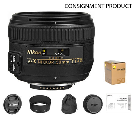 :::USED:::Nikon AF-S 50mm f/1.4G (MINT-864) CONSIGNMENT