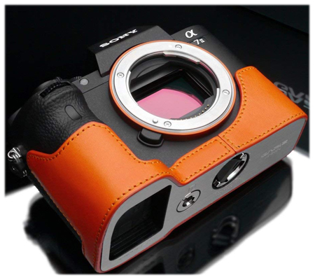 Gariz Leather Case for Sony A7II (XS-CHA7IIOR) Orange