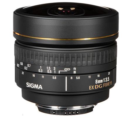Sigma for Nikon 8mm f/3.5 EX DG Circular Fisheye