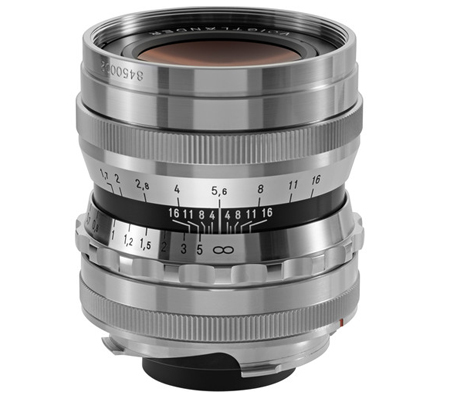Voigtlander for Leica M 35mm f/1.7 Aspherical Ultron Silver