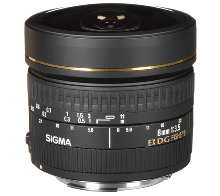 Sigma for Canon 8mm f/3.5 EX DG Circular Fisheye