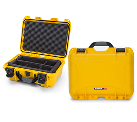 Nanuk 915 Waterproof Hard Case with Padded Dividers Yellow