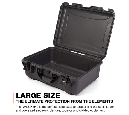 Nanuk 940 Large Series Case (Graphite)