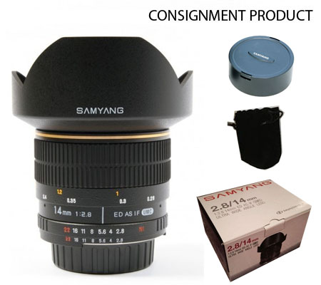 ::: USED ::: Samyang for Nikon 14mm F/2.8 ED AS IF UMC (Excellent to Mint-335) Consignment
