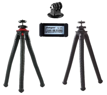 Fotopro UFO II Black Red + Tripod Mount + Holder SJ-85