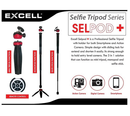 Excell Selpod+ Tripod Monopod Tongsis
