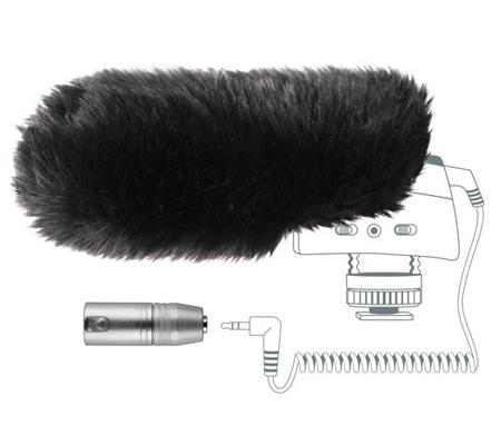 Sennheiser MZW 400 Hairy Windscreen and XLR Adapter