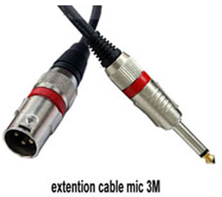 3rd Brand Extention Cable Microphone 3meter