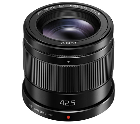 Panasonic Lumix G 42.5mm f/1.7 ASPH Power O.I.S Black