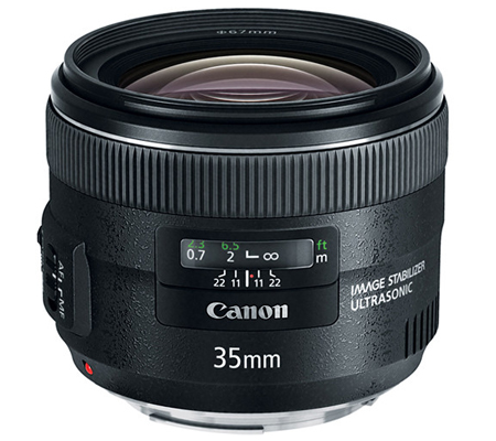 Canon EF 35mm f/2 IS USM.