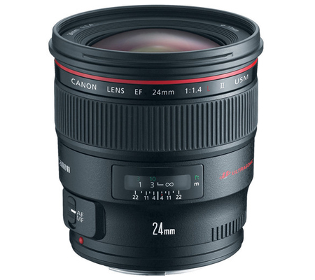 Canon EF 24mm f/1.4L II USM.