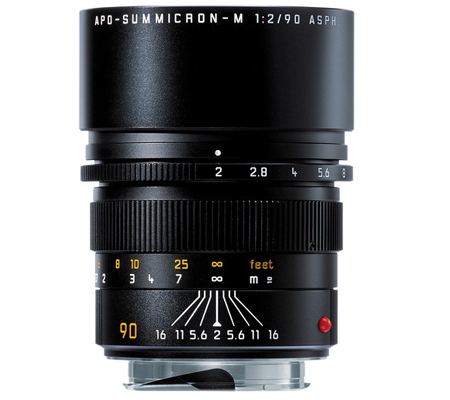 Leica 90mm f/2 APO Summicron-M ASPH Black (11884)