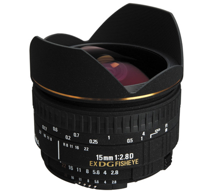 Sigma for Nikon 15mm f/2.8D  EX DG Fisheye.
