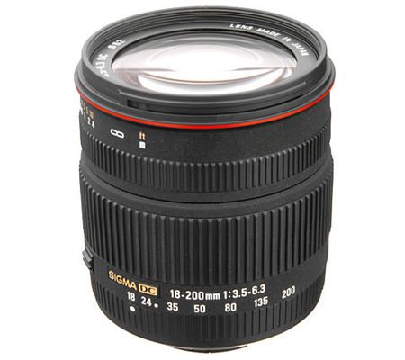 Sigma for Nikon 18-200mm f/3.5-6.3 DC