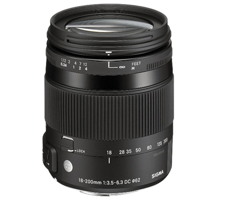 Sigma for Nikon 18-200mm f/3.5-6.3 DC Macro OS HSM Contemporary (C).