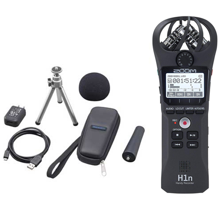 Zoom H1n Digital Handy Recorder + Accessories APH1