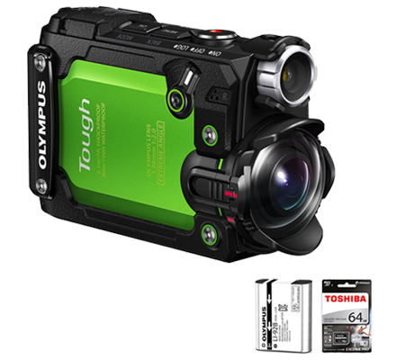 Olympus TG-Tracker + Battery Li-92b Hijau