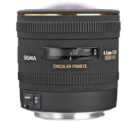 Sigma for Canon 4.5mm f/2.8 EX DC Circular Fisheye HSM.