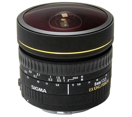 Sigma for Nikon 8mm f/3.5 EX DG Circular Fisheye