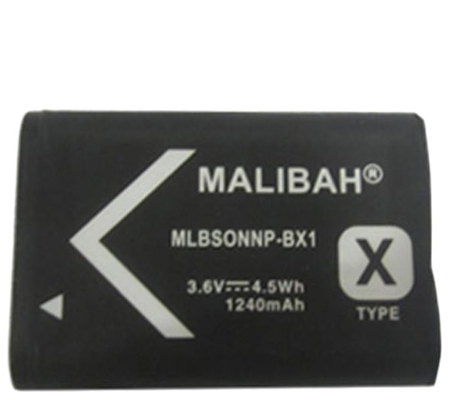 Malibah Sony NP-BX1 Battery for Sony RX 100 Series/ RX 1 Series/ CX 240/ CX 405/ PJ 410