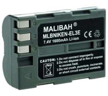 Malibah Nikon EN-EL3e Battery for Nikon D50/ D70s/ D80/ D90/ D100/ D200/ D300/ D300S/ D7