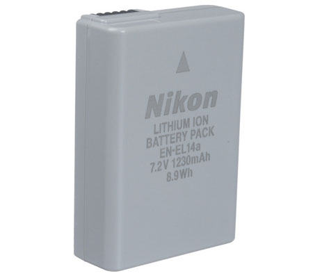 Nikon EN-EL14a Battery for Nikon DF/D3100/D3200/D3300/D5100/D5200/D5300/D5500/D5600