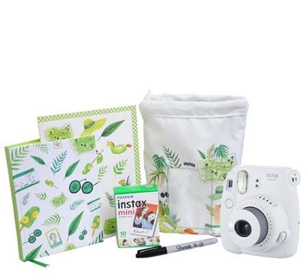 Fujifilm Holiday Package Instax Mini 9 Smokey White