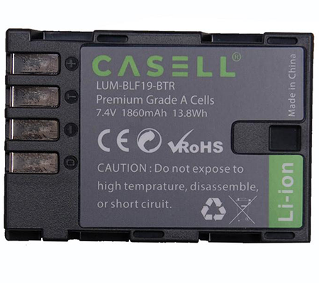 Casell Battery BLF19E + Dual Charger for Panasonic GH3/GH4/GH5/GH5S/G9