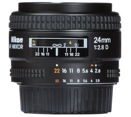 Nikon AF 24mm f/2.8D.
