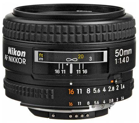 Nikon AF 50mm f/1.4D.
