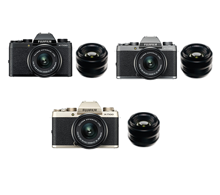 Fujifilm XT100 Kit XC15-45mm & XF 35mm F/1.4 Black