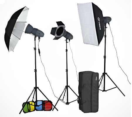 Visico VC-300HH 220V Unique Studio Lighting Kit