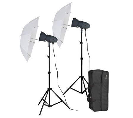 Visico VL-400HH 220V Umbrella Studio Lighting Kit