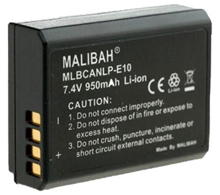 Malibah Canon LP-E10 Battery for Canon EOS 1300D/1200D/1100D